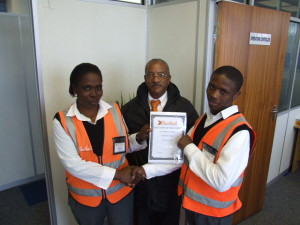 Ops Controller Henry Loggenberg and Section Leader Phumlille Dwane. Well done team